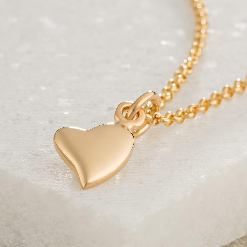 Personalised Gold Plated Warm Heart Necklace - Lily Charmed