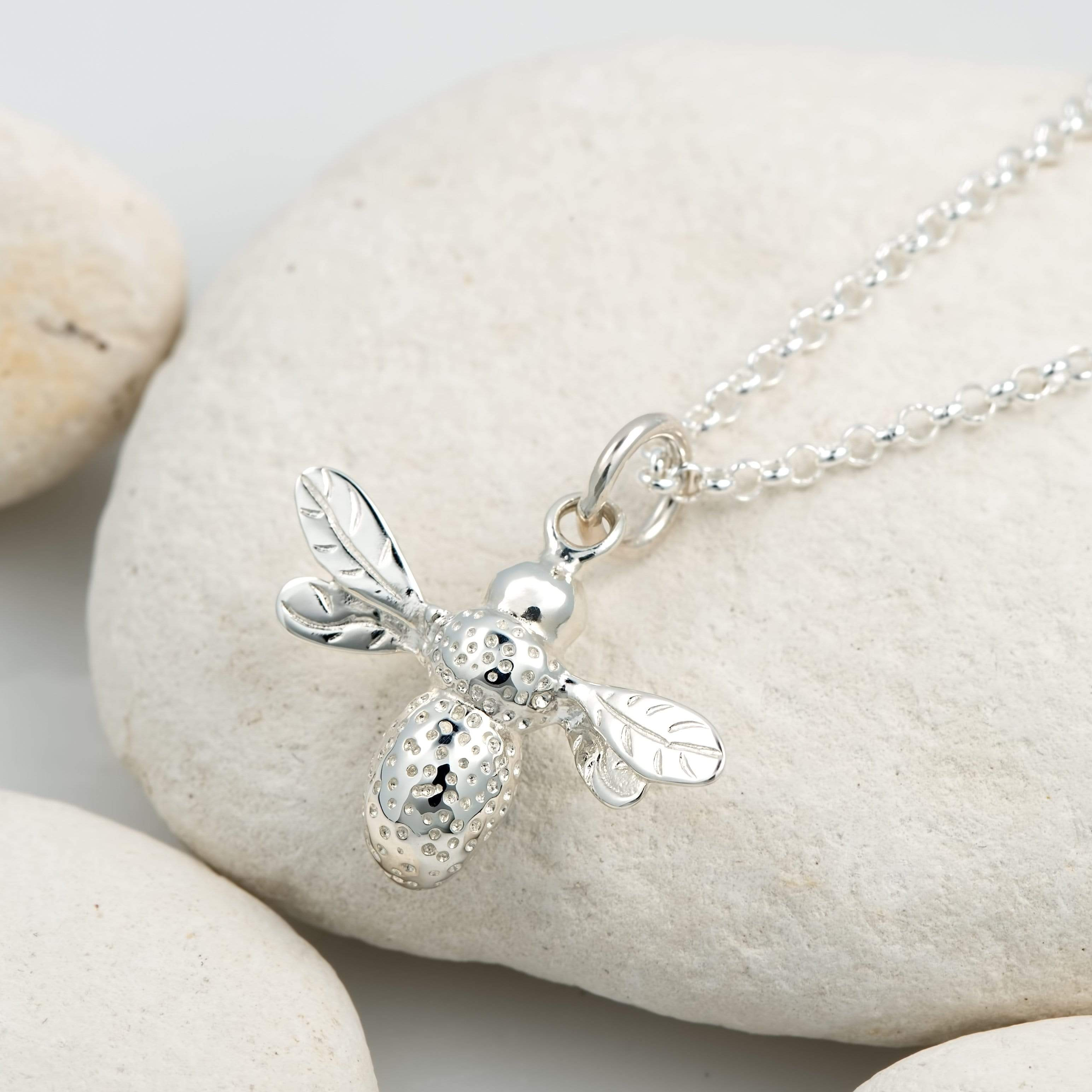 Silver Bee Jewellery Set With Stud Earrings - Lily Charmed