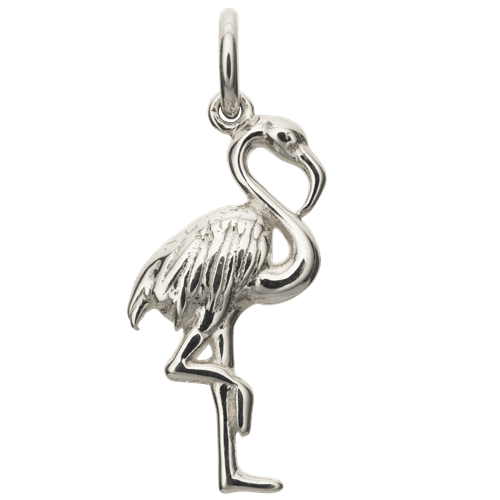 Silver Flamingo Charm - Lily Charmed