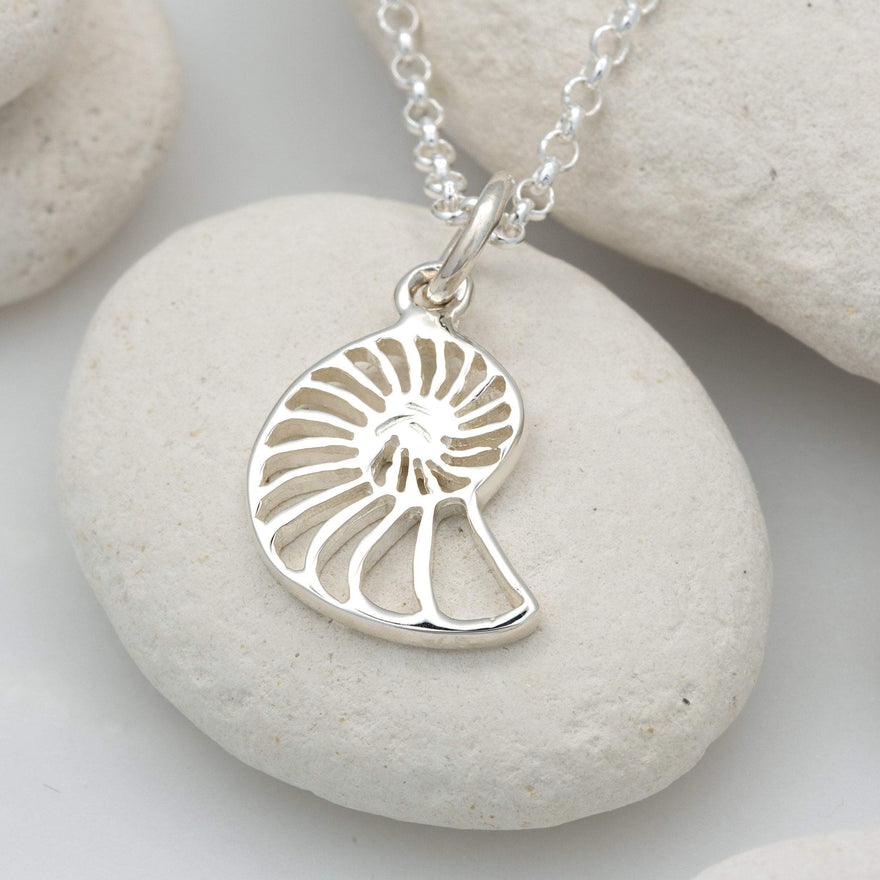 Personalised Silver Shell Slice Necklace