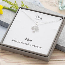 Personalised Silver Tree Necklace - Lily Charmed