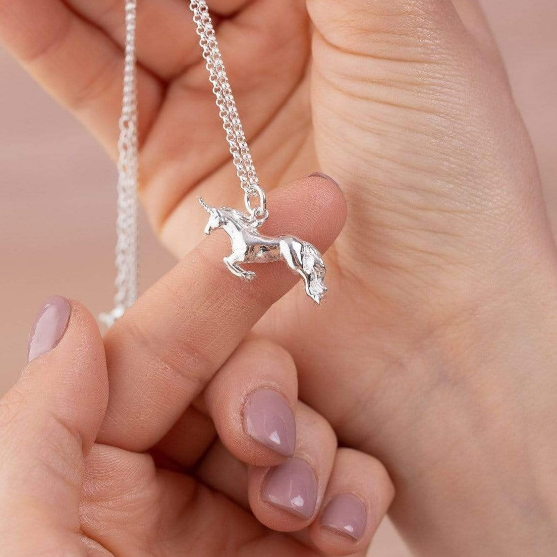Personalised Silver Unicorn Necklace - Lily Charmed