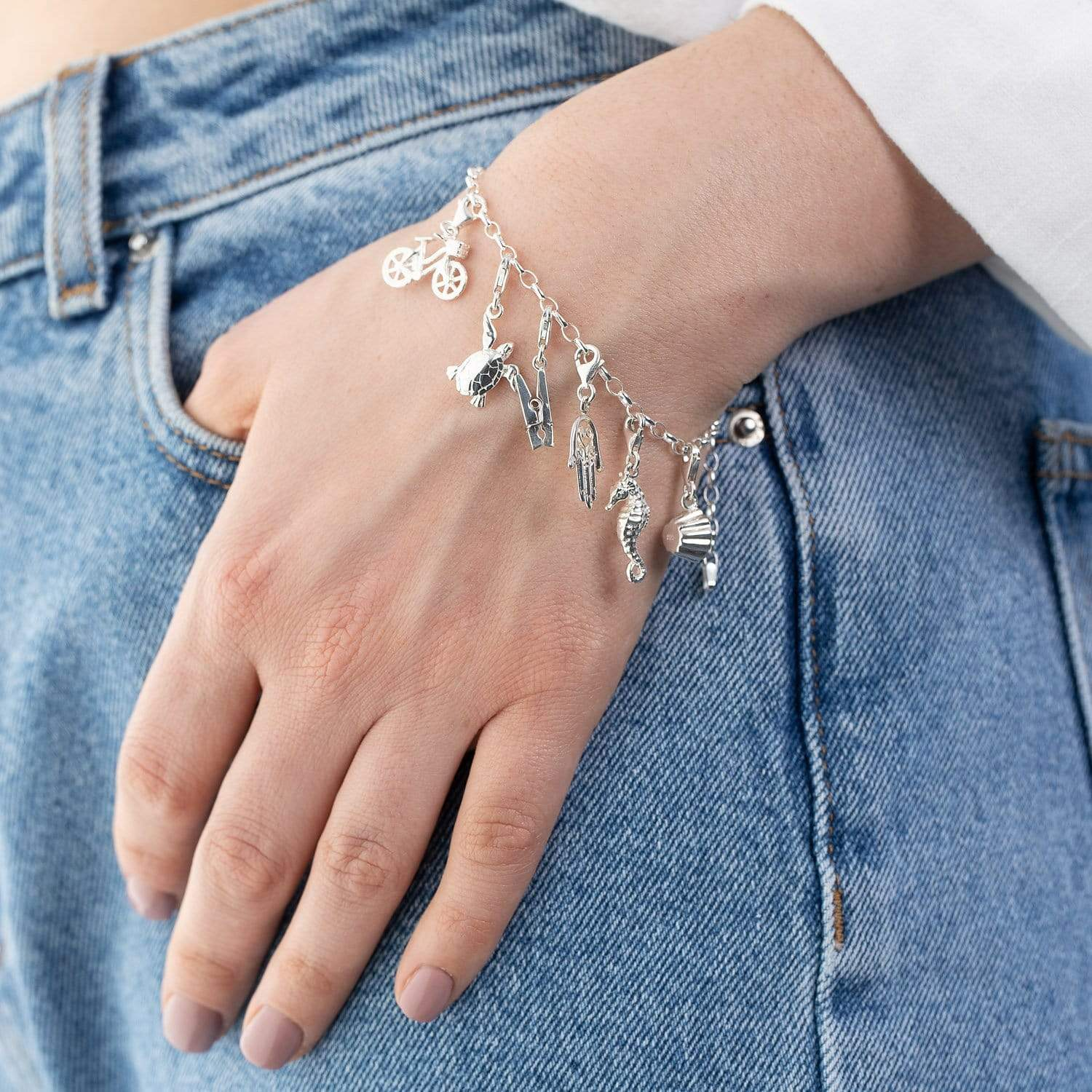 Silver Charm Bracelet - Lily Charmed