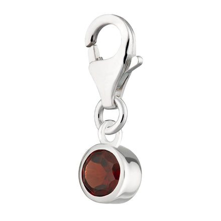 Garnet Charm - January Birthstone - Lily Charmed