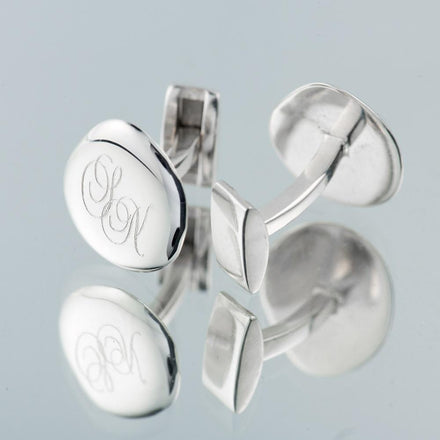 Monogrammed Silver Cufflinks - Lily Charmed