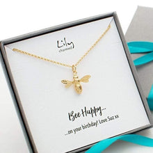 Personalised Gold Plated Bee Necklace - Lily Charmed