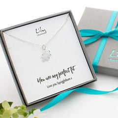Personalised Silver Jigsaw Necklace