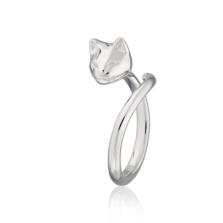 Silver Cat Ring - Lily Charmed
