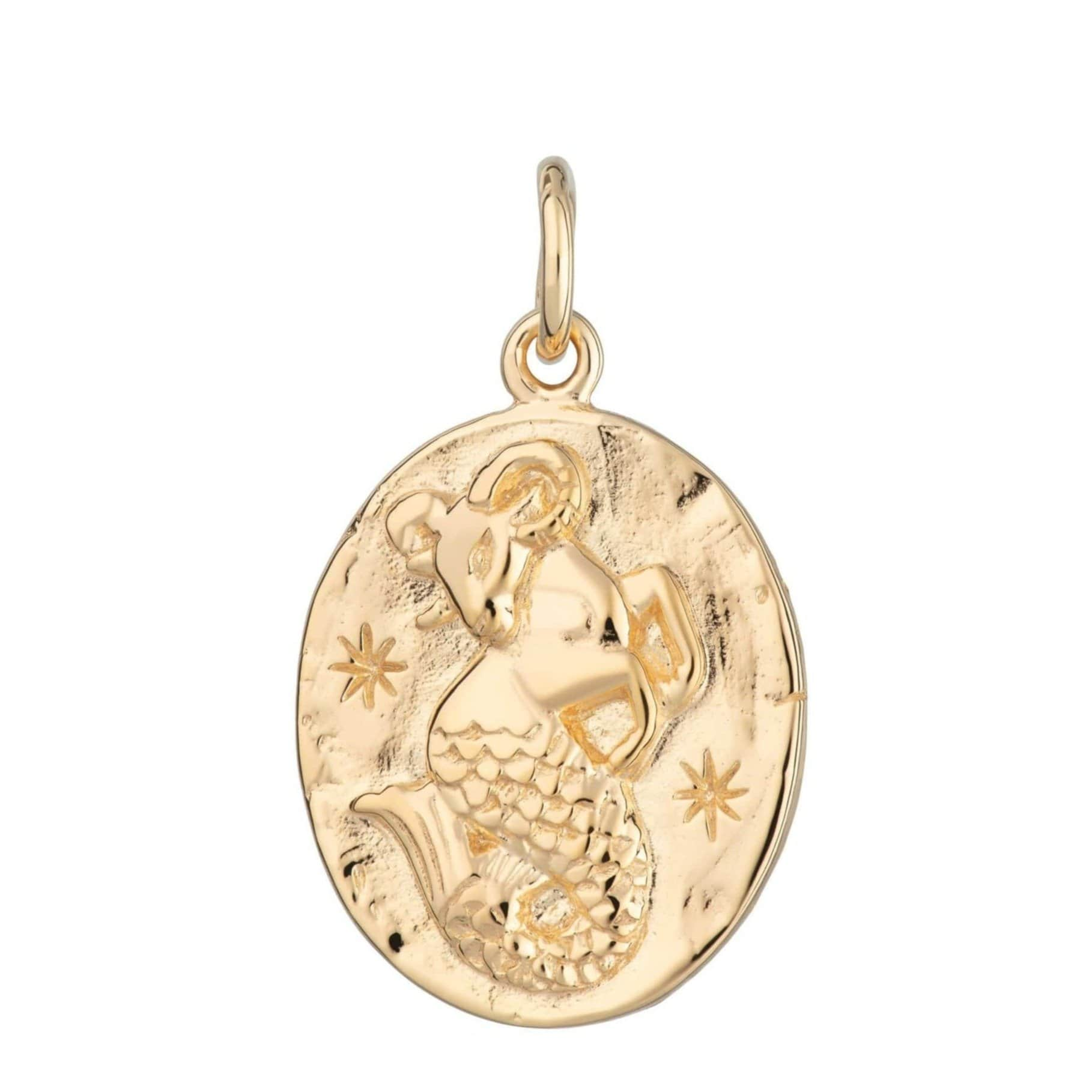 Gold Plated Capricorn Zodiac Charm - Lily Charmed