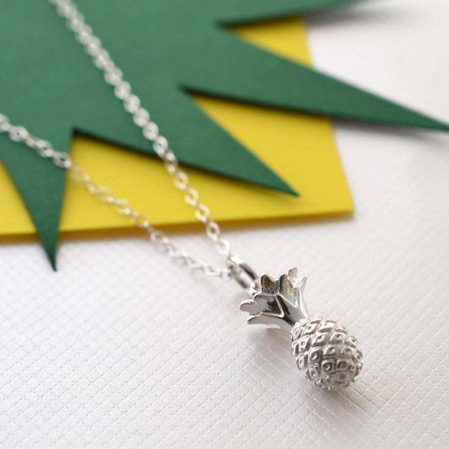Personalised Silver Pineapple Necklace