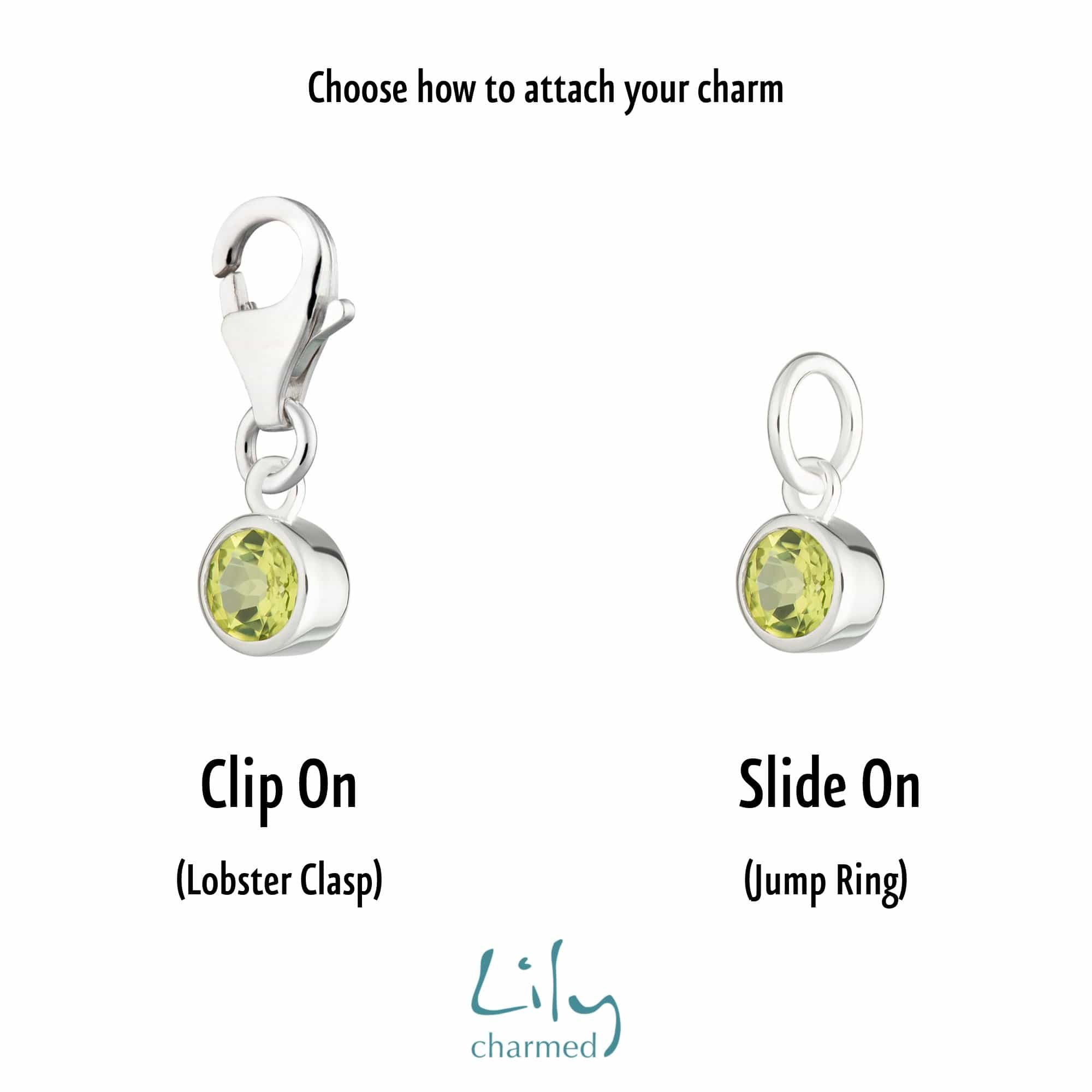 Peridot Charm - August Birthstone - Lily Charmed