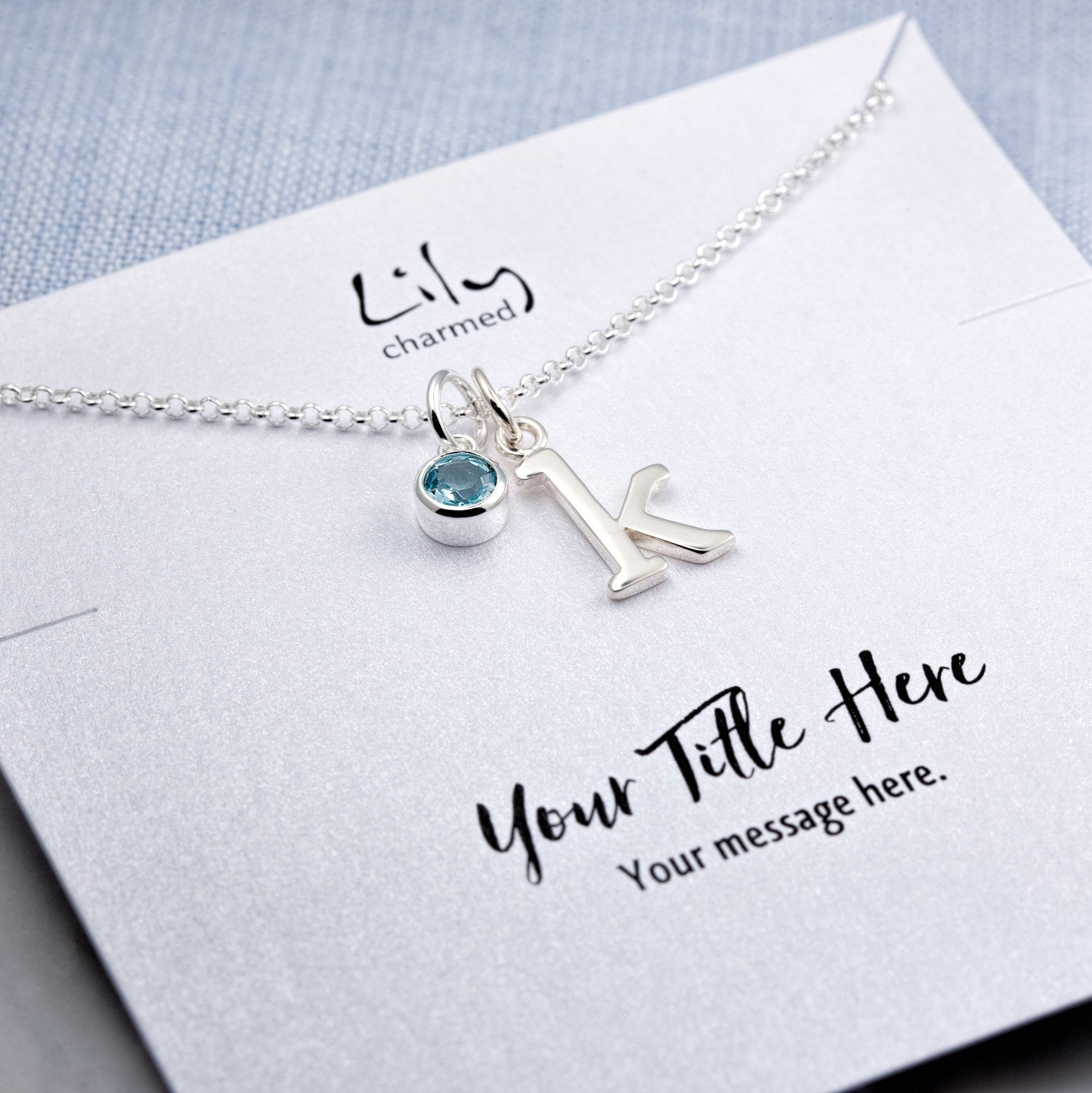 Personalised Silver Lariat Necklace