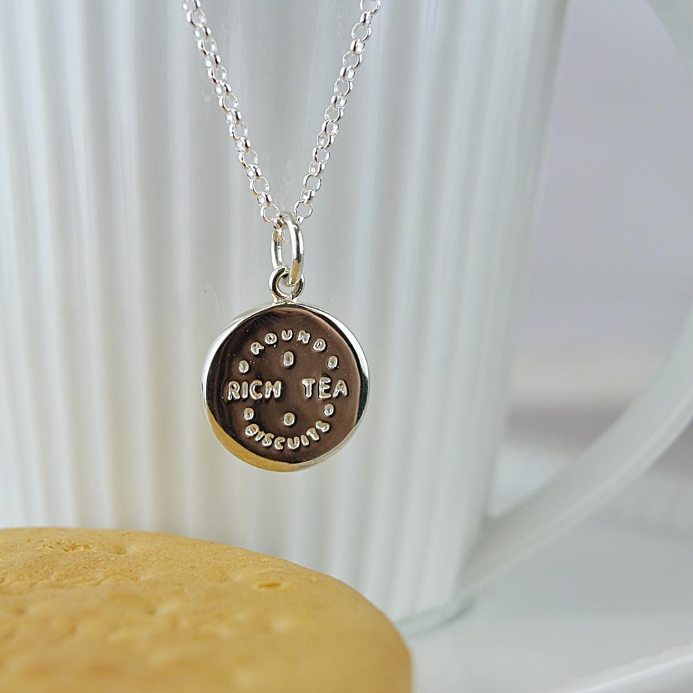 Personalised Silver Rich Tea Necklace