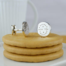Silver Rich Tea Cufflinks - Lily Charmed