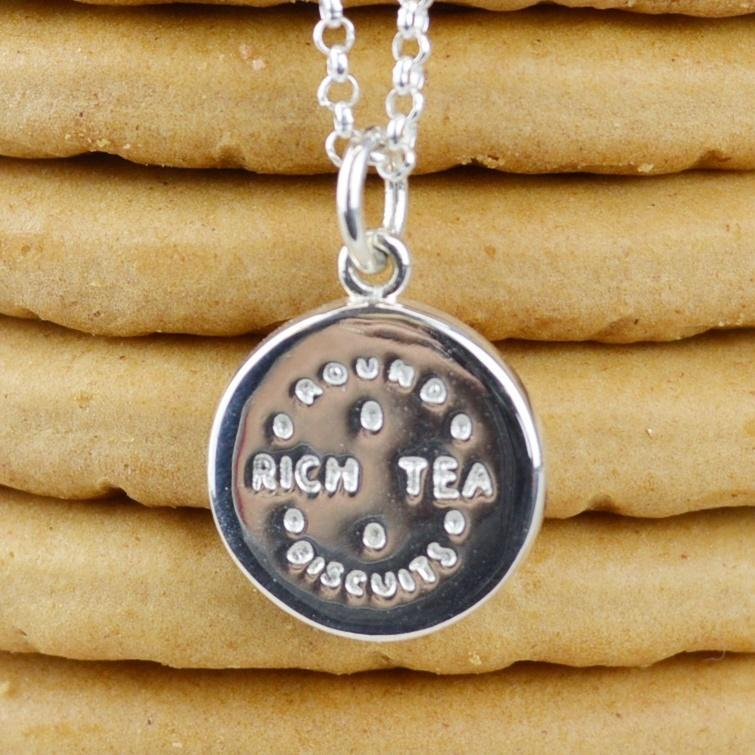 Personalised Silver Rich Tea Necklace - Lily Charmed