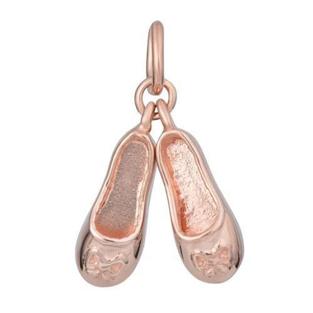Rose Gold Plated Ballet Shoes Charm