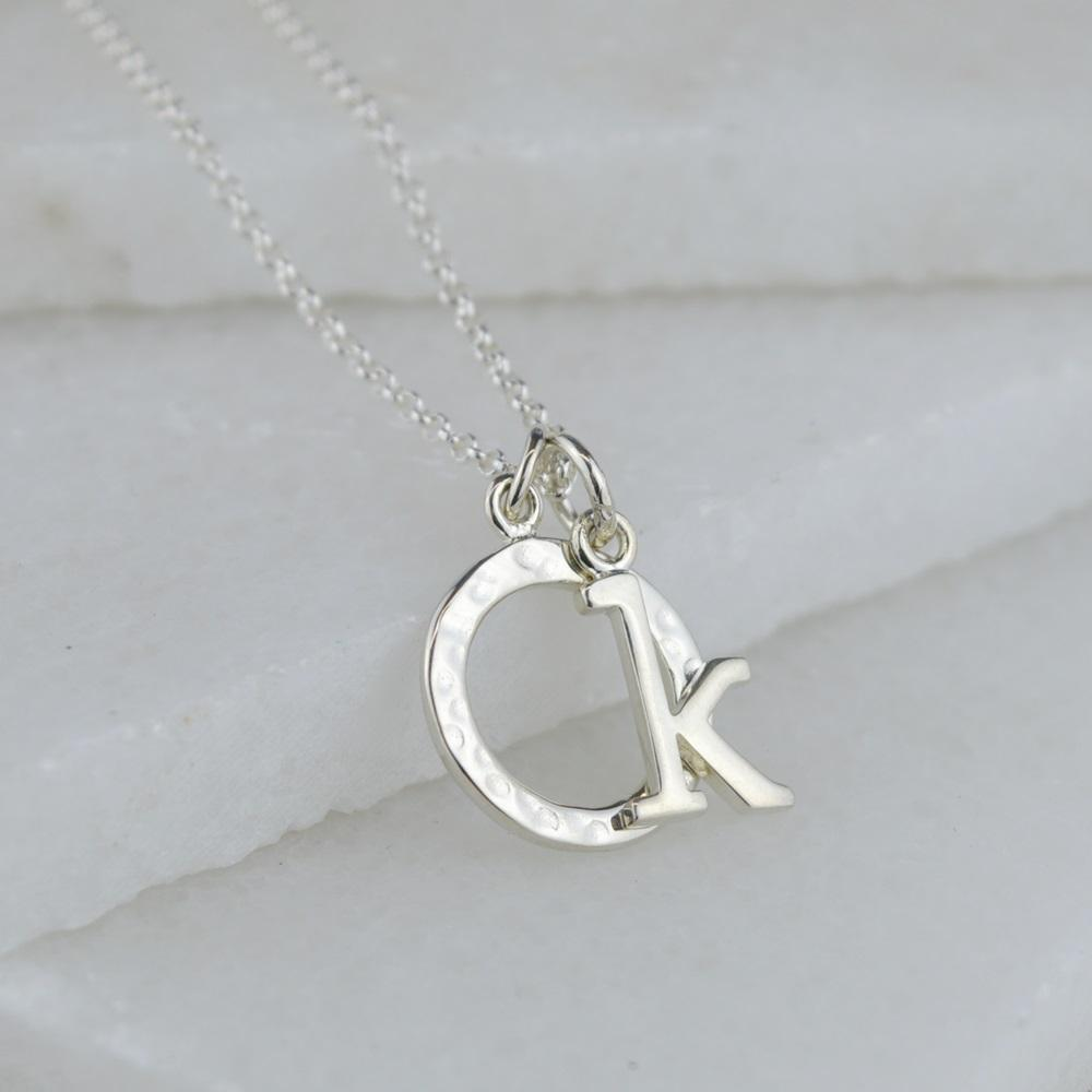 Personalised Silver Circle Necklace - Lily Charmed