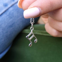 Personalised Silver Music Note Necklace
