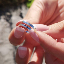 September Birthstone Open Ring, Sapphire - Lily Charmed