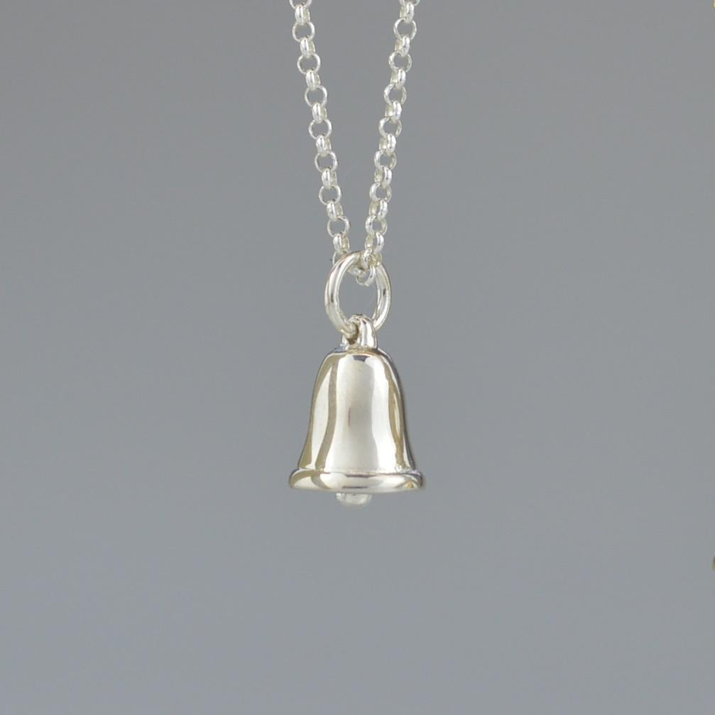 Personalised Silver Bell Necklace - Lily Charmed