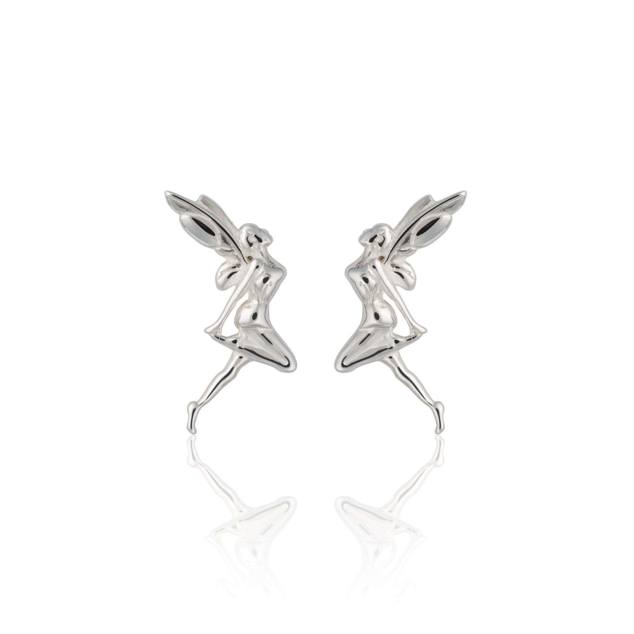 Silver Fairy Stud Earrings - Lily Charmed