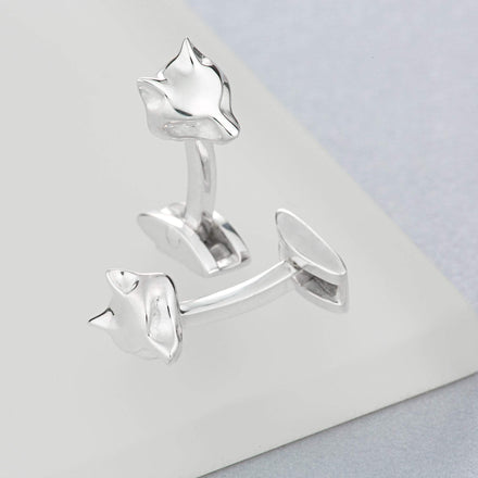 Silver Fox Cufflinks - Lily Charmed
