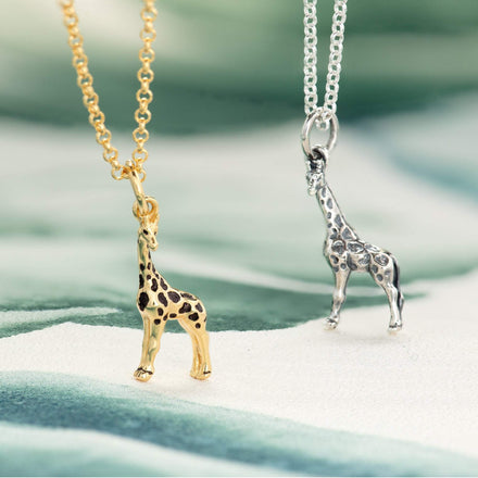 Personalised Silver Giraffe Necklace - Lily Charmed