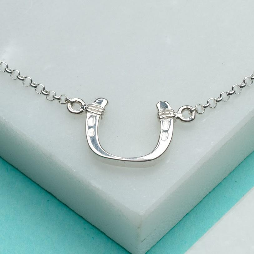 Personalised Silver Horseshoe Bracelet - Lily Charmed