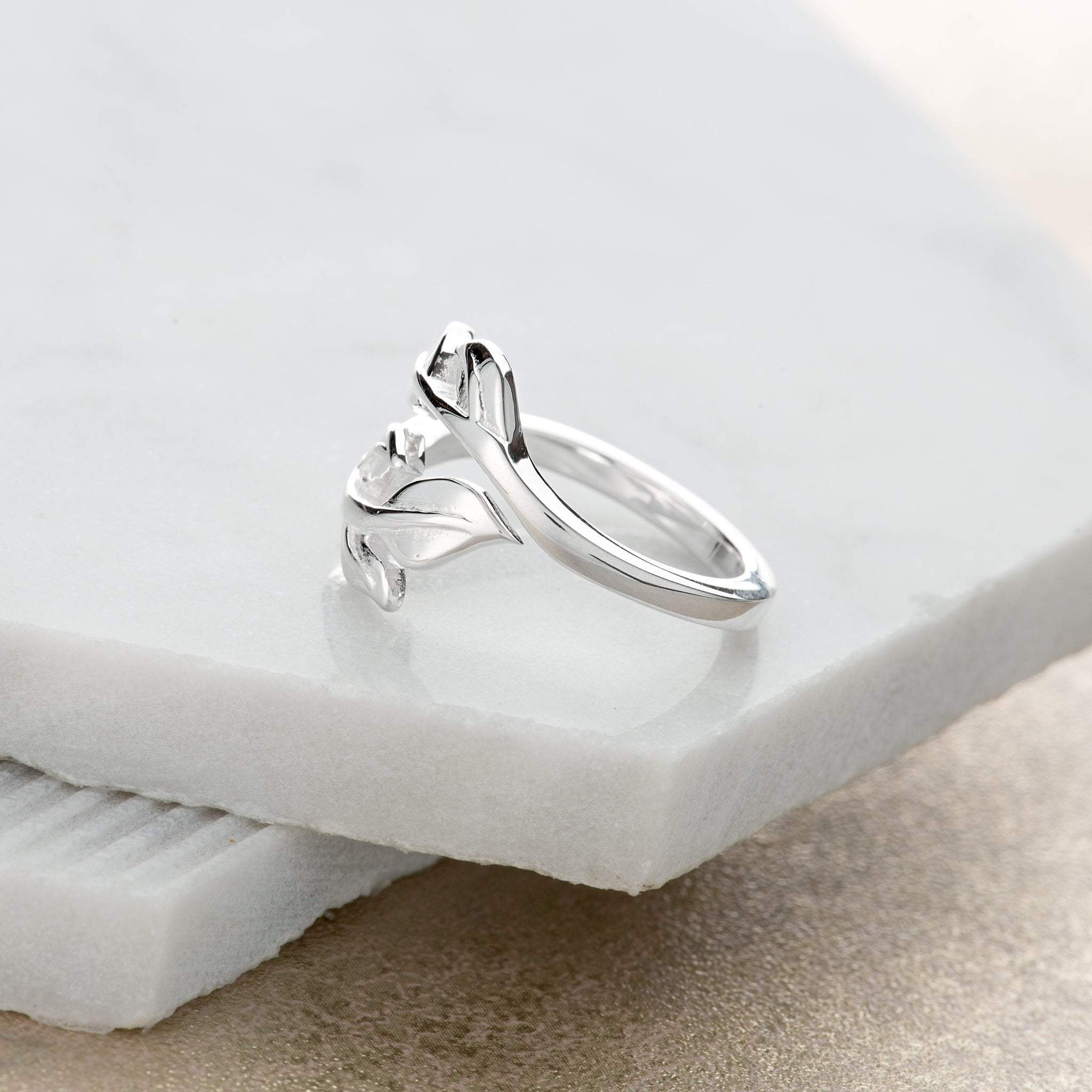 Silver Laurel Leaf Ring