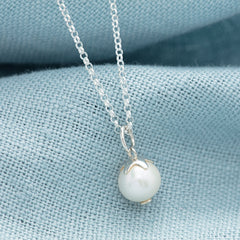 Personalised June Birthstone Necklace (Pearl) - Lily Charmed