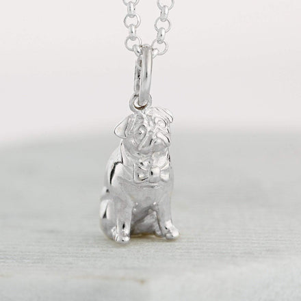 Personalised Silver Pug Necklace