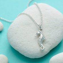 Personalised Silver Seahorse Necklace - Lily Charmed