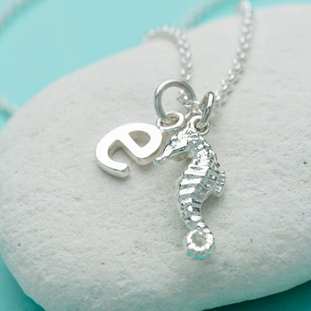Personalised Silver Seahorse Necklace