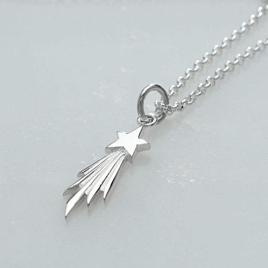 Personalised Shooting Star Necklace - Lily Charmed