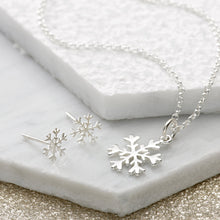 Silver Snowflake Jewellery Set With Stud Earrings - Lily Charmed