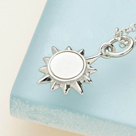 Personalised Silver Sunshine Necklace - Lily Charmed