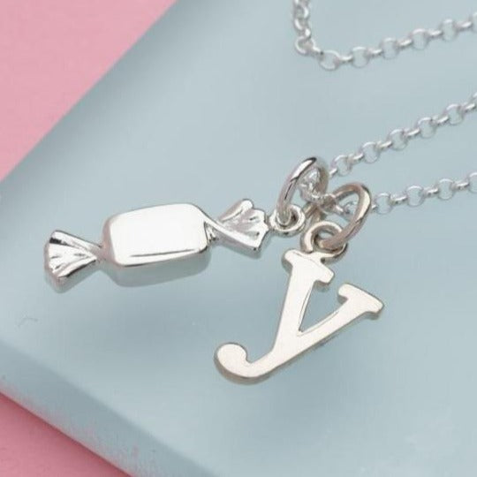 Personalised Silver Sweet Necklace - Lily Charmed