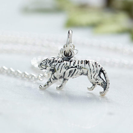 Personalised Silver Tiger Necklace