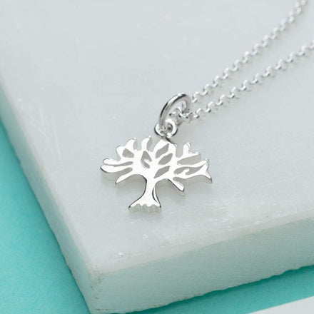 Personalised Silver Tree Necklace