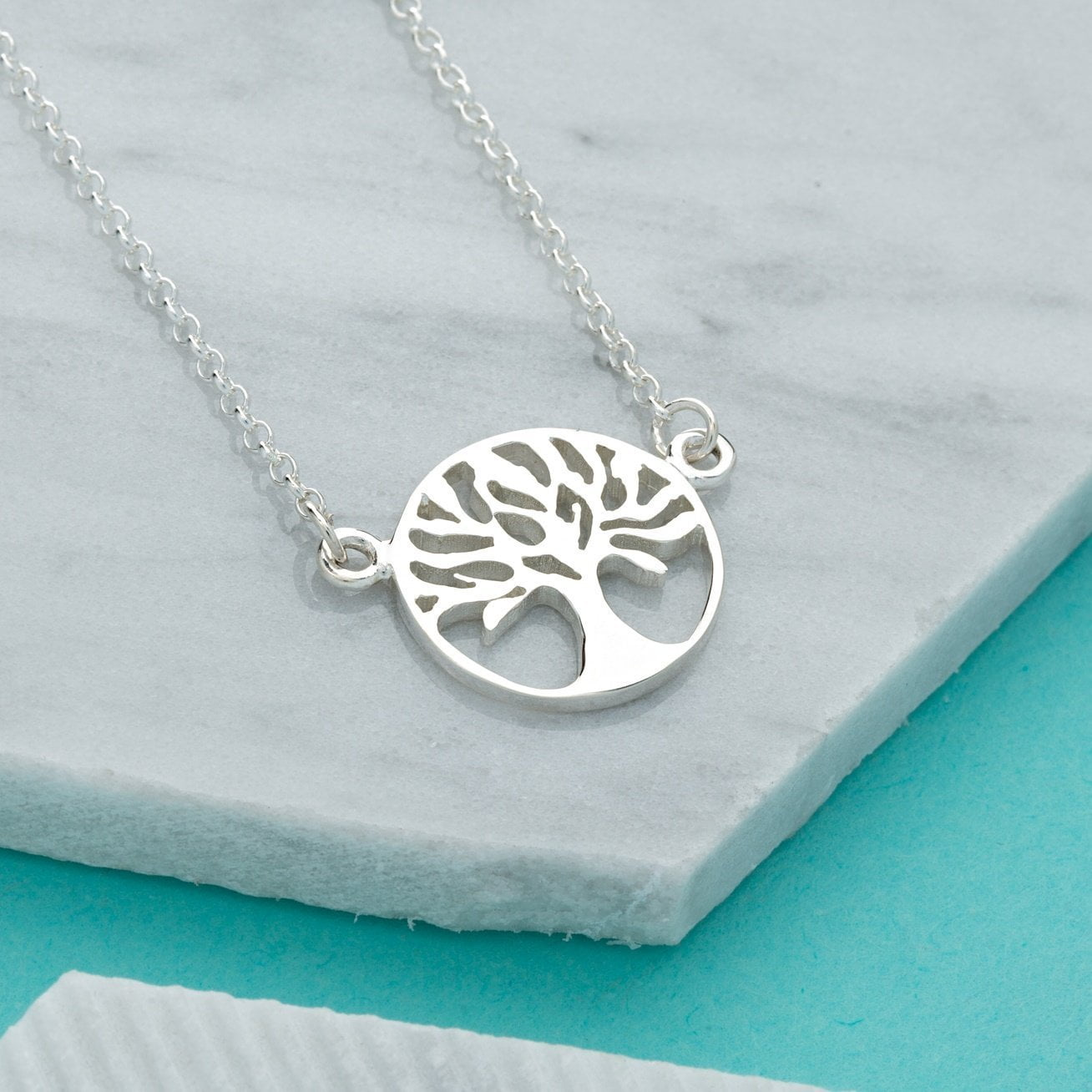 Personalised Silver Tree of Life Necklace - Lily Charmed
