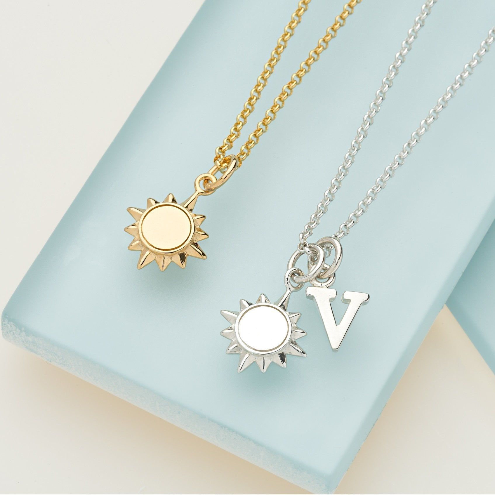 Personalised Gold Plated Sunshine Necklace - Lily Charmed
