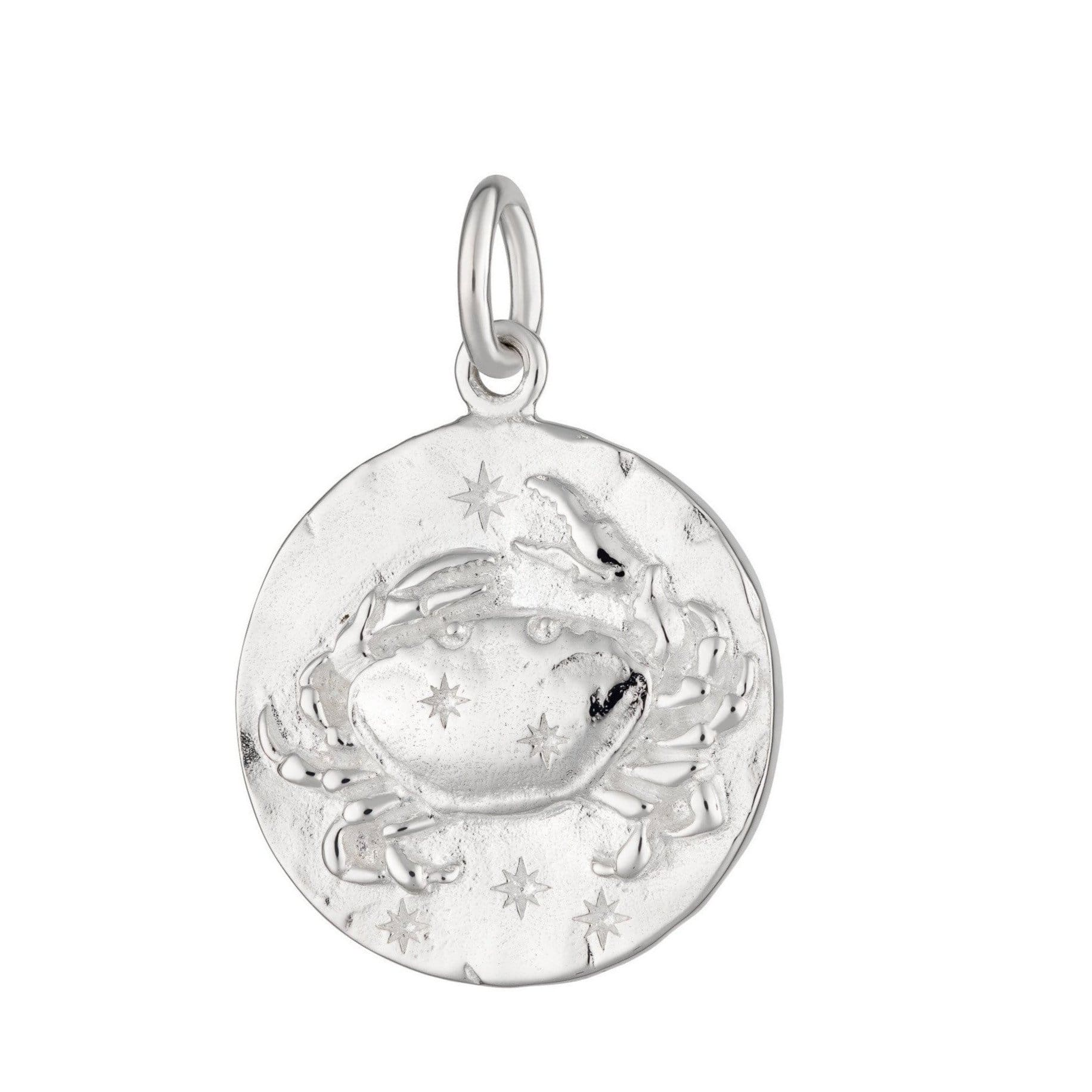 Silver Cancer Zodiac Charm - Lily Charmed