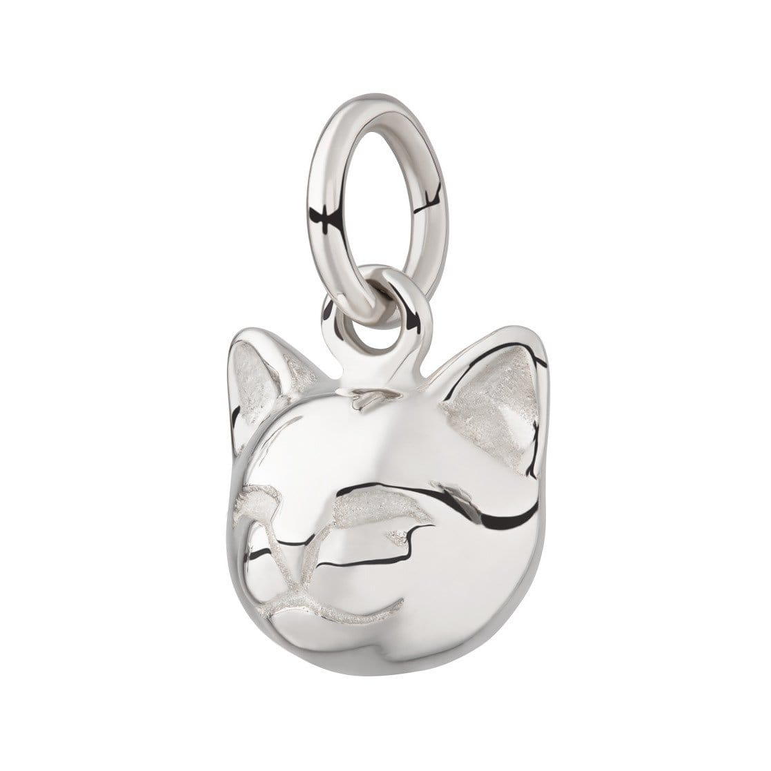 Silver Cat Face Charm - Lily Charmed