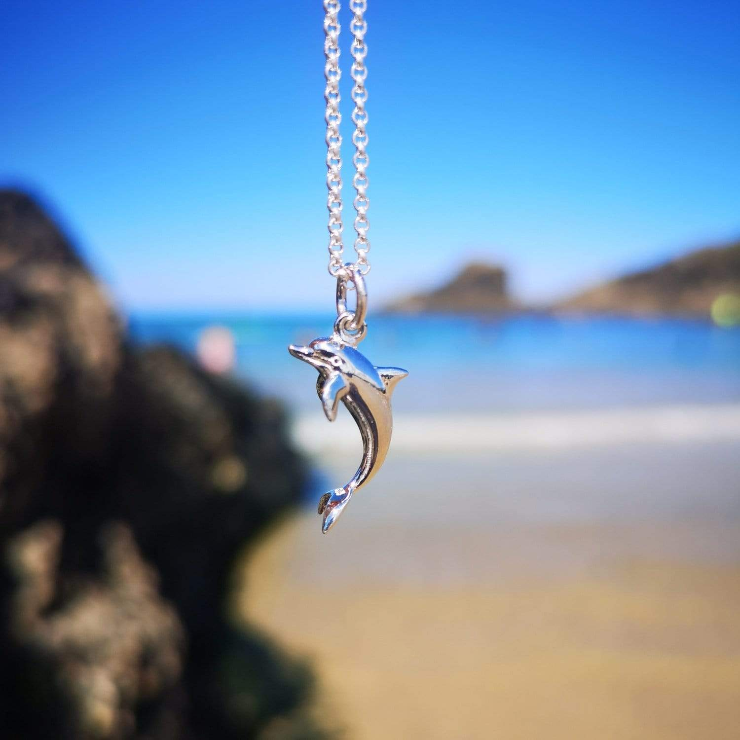 Personalised Silver Dolphin Necklace