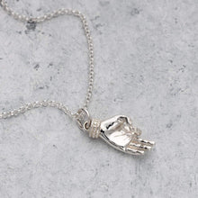 Silver Vintage Hand Necklace by Lily Charmed