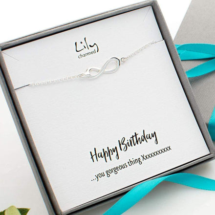 Personalised Silver Infinity Bracelet - Lily Charmed