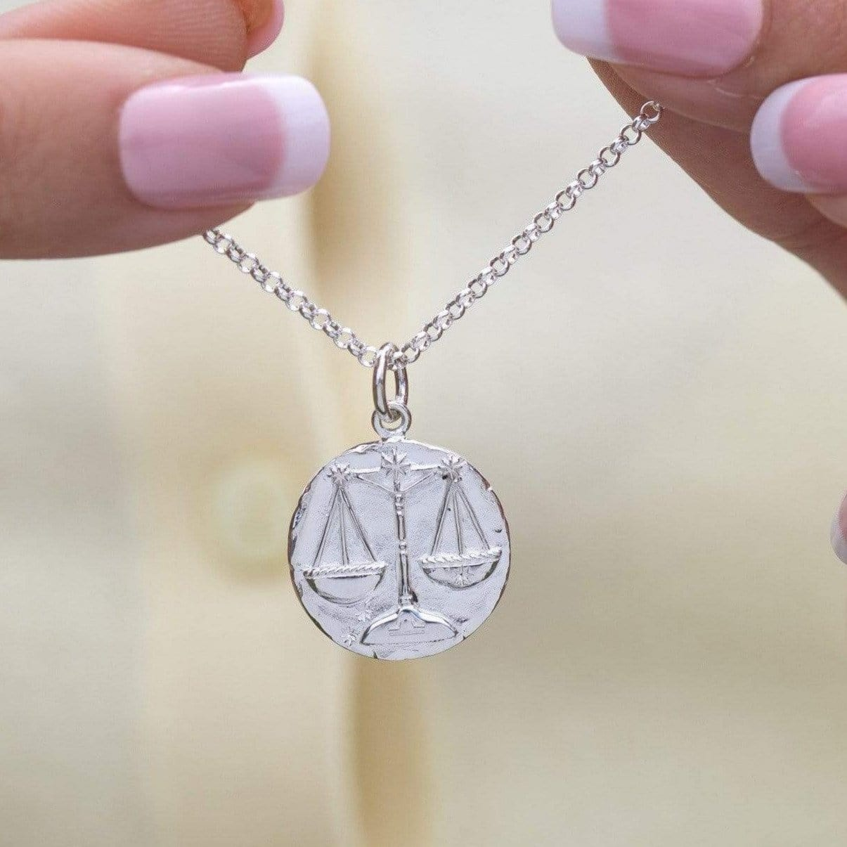 Personalised Silver Libra Zodiac Necklace - Lily Charmed