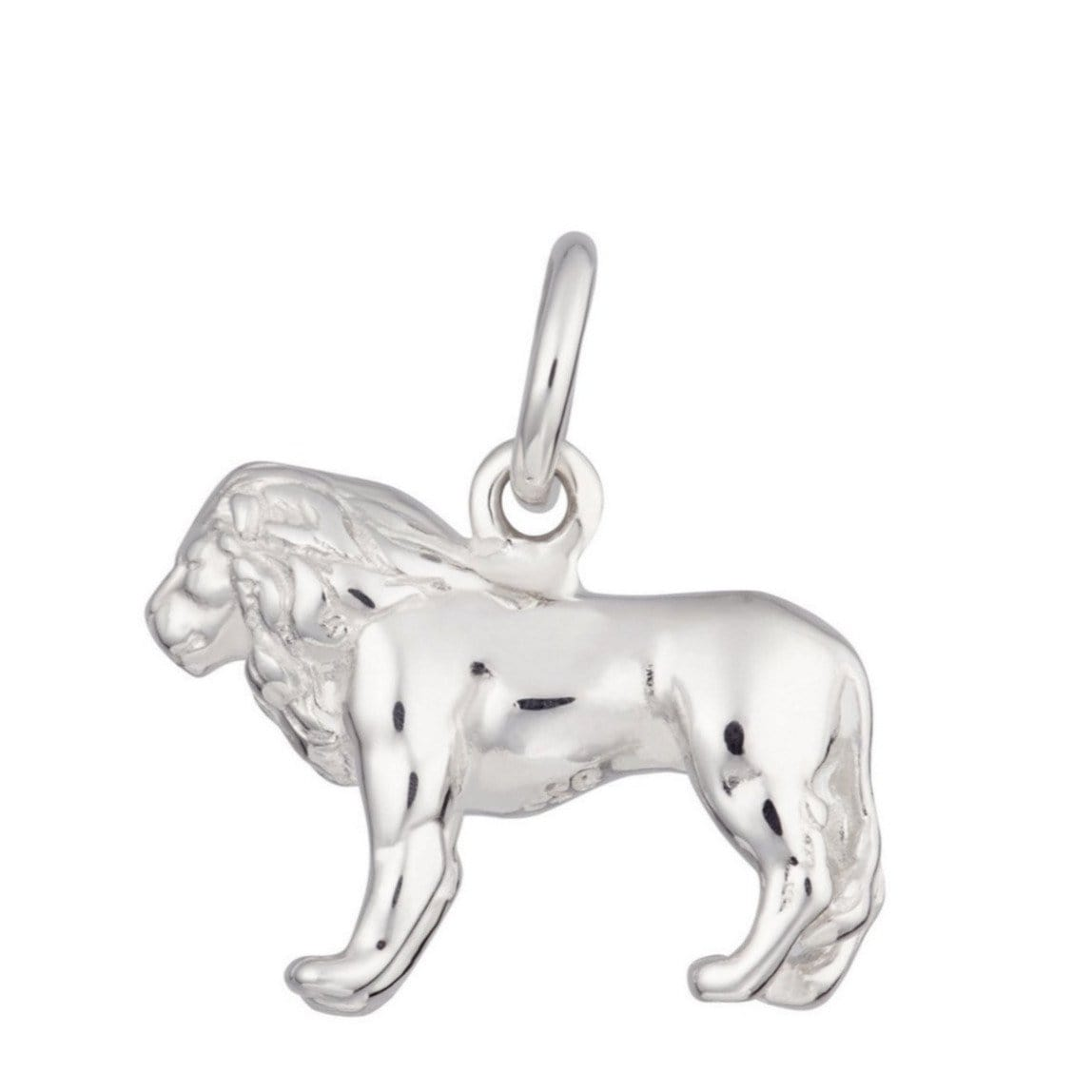 Silver Lion Charm - Lily Charmed