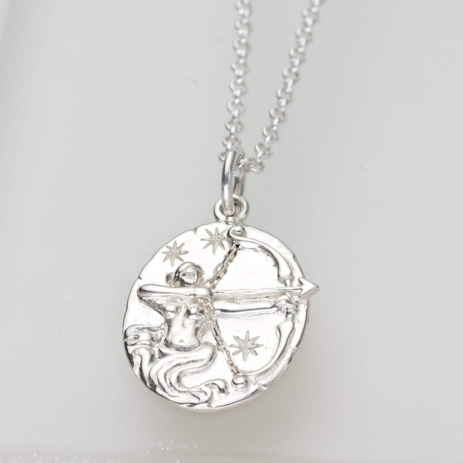 Personalised Silver Sagittarius Zodiac Necklace - Lily Charmed