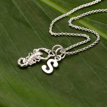 Personalised Silver Scorpion Necklace - Lily Charmed